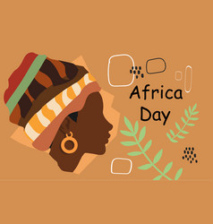 image of black woman africa day vector image