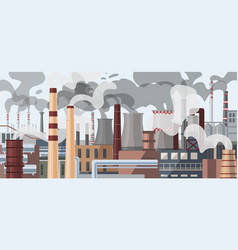 Industrial factory pipes chimneys vector