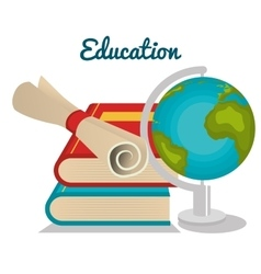 infographic education flat icons vector image