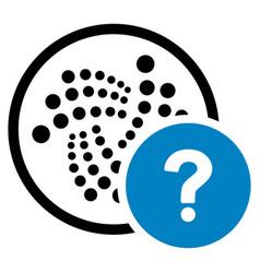 Iota state query flat icon vector