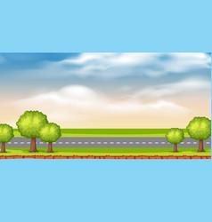 Landscape background design river and road vector