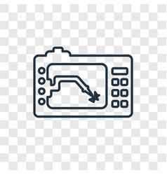 lathe machine concept linear icon isolated on vector image