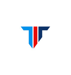 Letter t shape colored company logo vector
