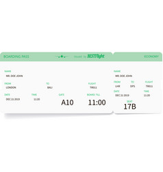 light green pattern of boarding pass ticket vector image