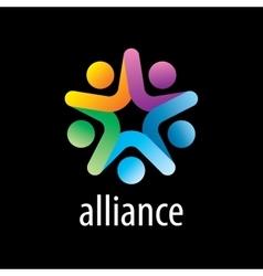 logo alliance vector image
