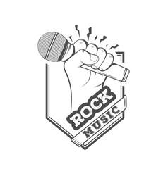 logotype rock music vector image