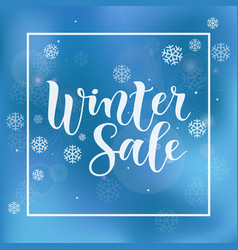 modern calligraphy lettering of winter sale vector image