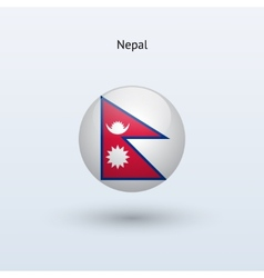 Nepal round flag vector image