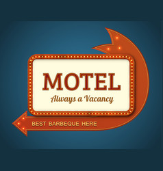 Old motel signboard vector