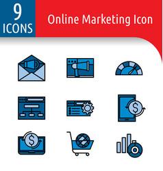 Online market color icon2 vector