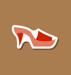 Paper sticker fashion footwear flip flops heels vector