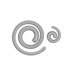 Parasitic nematode worms icon vector