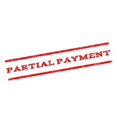 Partial Payment Watermark Stamp vector