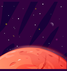 planet mars surface background vector image