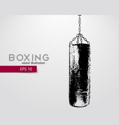 Punching bag silhouette vector