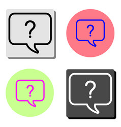 question mark icon help speech bubble flat icon vector image