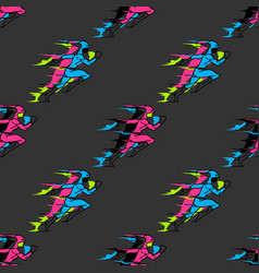 Rushing superhero seamless pattern vector