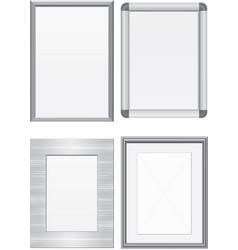 set metal frames vector image