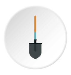 Shovel icon circle vector