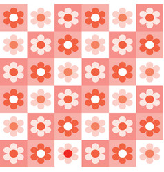 simple daisy design on coral background vector image