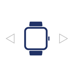 smart watch symbol sign silhouette icon on vector image