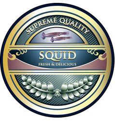 Squid gold icon vector