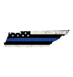 State tennessee police support flag vector
