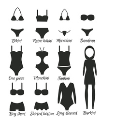 Swimsuits models for women vector
