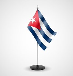 Table flag of cuba vector