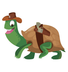 turtle serif vector image