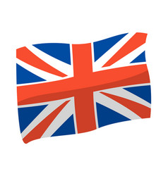 united kingdom flag great vector image