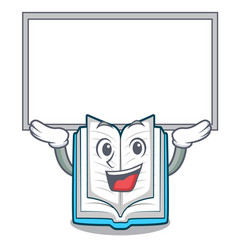 up board opened book on the cartoon table vector image