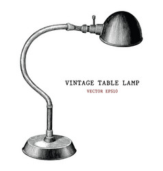 vintage table lamp hand draw vintage engraving vector image