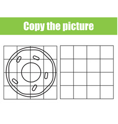 Yummy donut draw grid copy picture vector