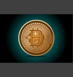 Bitcoin shape scene business concepts vector