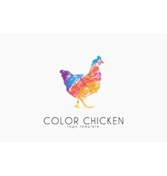 Chicken logo Color chicken Creative logo vector image