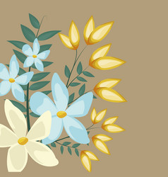 floral jasmine decoration leaves image vector image
