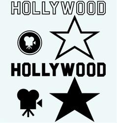 Hollywood symbol vector image