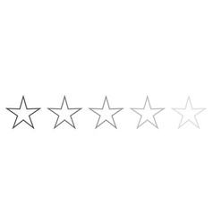 isolated gray star icons in set ranking mark vector image vector image
