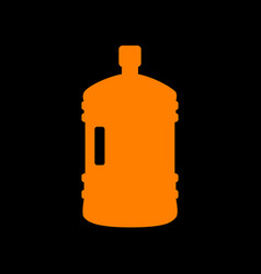 plastic bottle silhouette sign orange icon on vector image vector image
