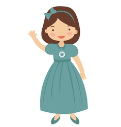 50ies style little girl vector image vector image