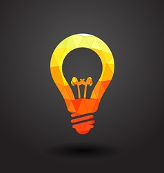 Abstract light bulb vector image