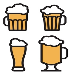 beer simple2 vector image vector image
