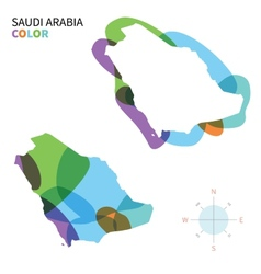 Abstract color map of Saudi Arabia vector image