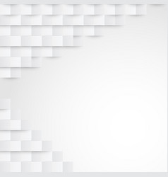 Abstract white paper geometric background vector