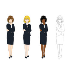 business woman thinking vector image vector image