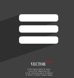 List menu content view options icon symbol flat vector