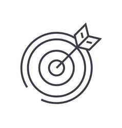 target arrow line icon sign vector image vector image