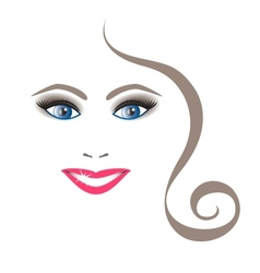 Young Beautiful Woman with Shining Smile vector image