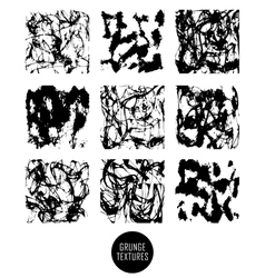 Abstract set of blobs splash labels vector image